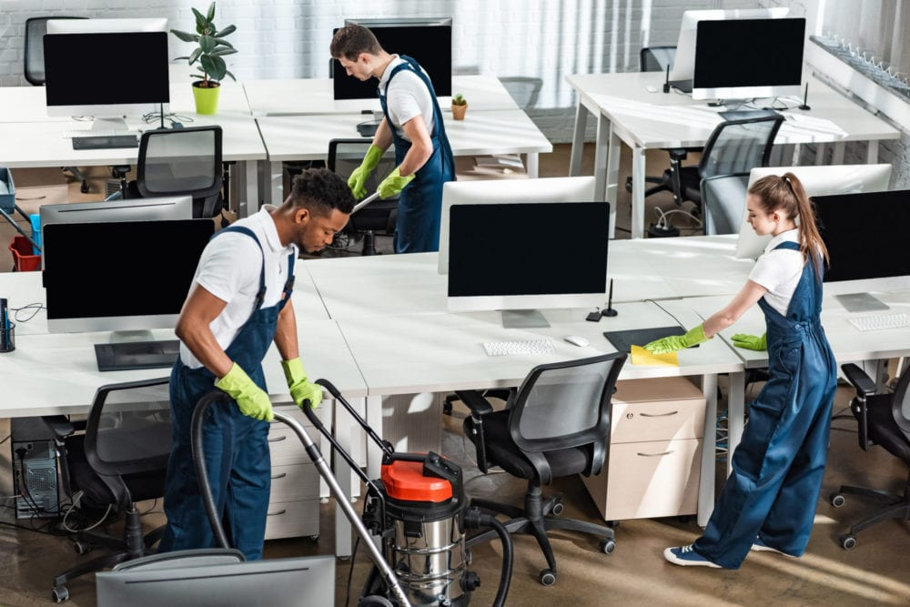Our Office Cleaning Team In Action